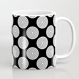 Black N White Simple Circle Pattern Mix And Match Coffee Mug