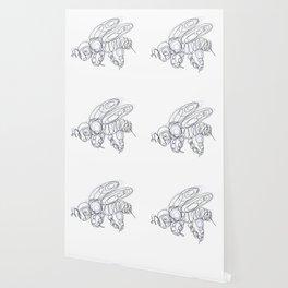 Honey Bee Line Drawing Wallpaper