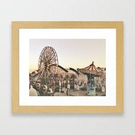 Mickey Wheel Framed Art Print