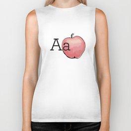 Fruit + Veggie Alphabet: Apple Biker Tank
