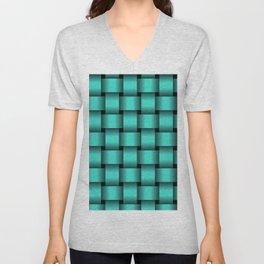Large Turquoise Weave Unisex V-Neck