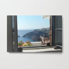 Greek Island View Metal Print