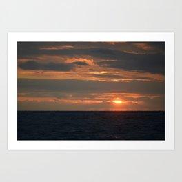 Poros sunset 1 Art Print