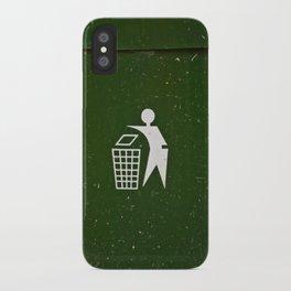 Trash - Put here please! iPhone Case