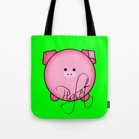 piglet Tote Bags featuring Piglet by Miaa