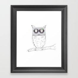 Owl cassette Framed Art Print