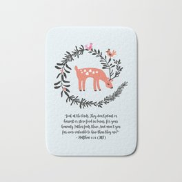 Deer & Birds Bath Mat