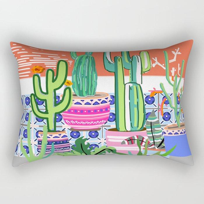 Cactus Window Rectangular Pillow
