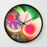 funky Wall Clocks featuring Funky by Joel Olives
