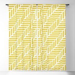 Herringbone 45 Yellow Blackout Curtain