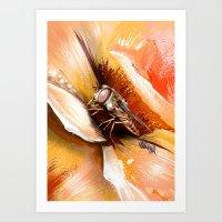 Fly on flower 8 Art Print