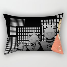 Deco Who - Rose Rectangular Pillow