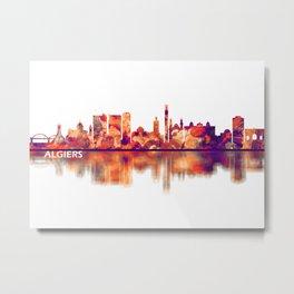 Algiers Algeria Skyline Metal Print