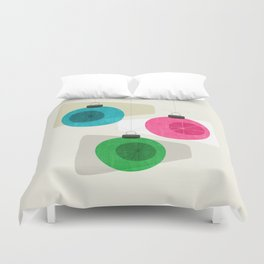 Retro Holiday Baubles Duvet Cover