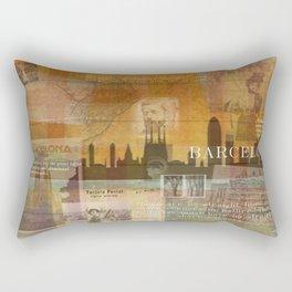 Gaudi's Barcelona Rectangular Pillow