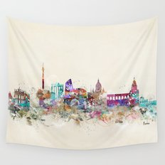 rome skyline vintage Wall Tapestry