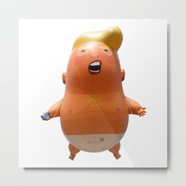 Trump baby balloon Metal Print
