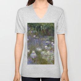 "Claude Monet ""Water lilies""(2) Unisex V-Neck"
