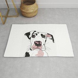 Great Dane Dog (b/w/pink) Rug