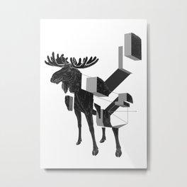moose_deconstructed Metal Print