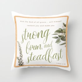 1 Peter 5:10 Throw Pillow