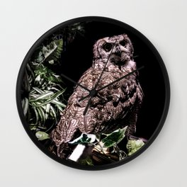 Handsome Hooter Wall Clock