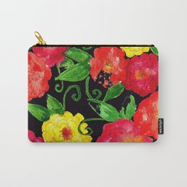 Vintage Wallpaper Black Carry-All Pouch