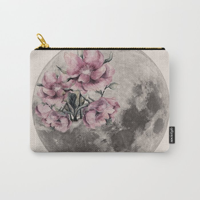 Moon in Bloom Carry-All Pouch