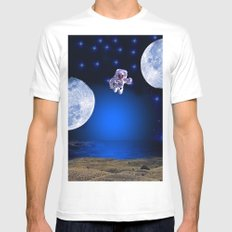 NOT EARTH Mens Fitted Tee MEDIUM White