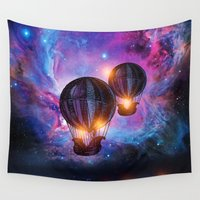 trip Wall Tapestries featuring Space trip. by Viviana Gonzalez