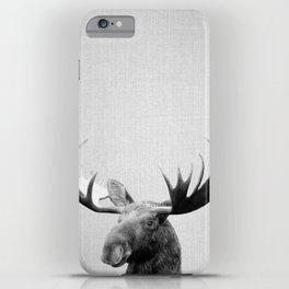Moose - Black & White iPhone Case