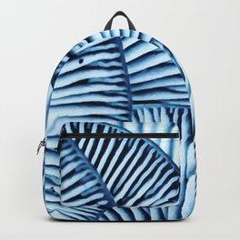 Enoki in Blue Backpack