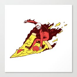 Pizza Surfer Canvas Print
