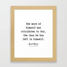 50  | Karl Marx Quotes | 190817 Framed Art Print