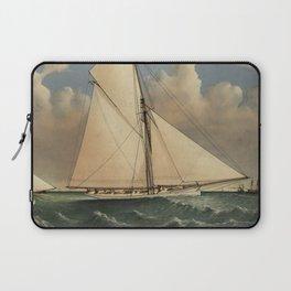 Vintage Boston Yacht - Puritan - Illustration (1885) Laptop Sleeve