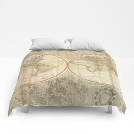Vintage Map of The World (1799) 2 Comforters