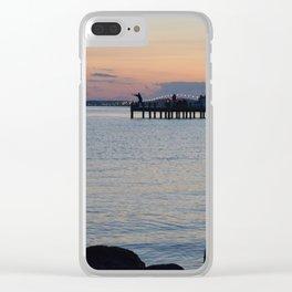 Seaside Fisherman Clear iPhone Case