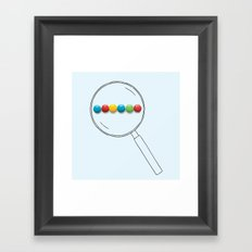 Google - Magnificent glass Framed Art Print