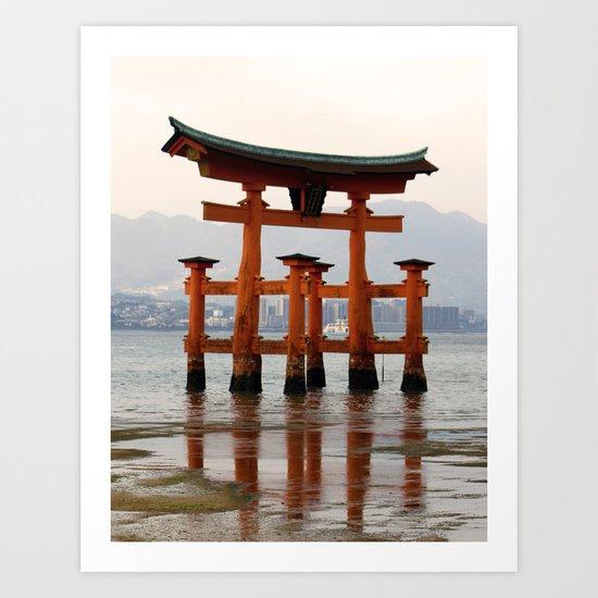 Itsukushime Shrine Torii Gate Art Print