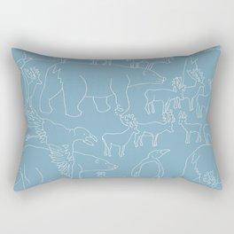 Global warming and animal migration 03 Rectangular Pillow
