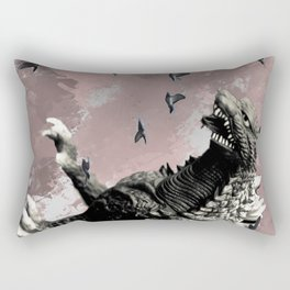 godzilla attack Rectangular Pillow
