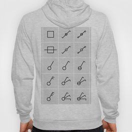 icons switches, electrical symbols Hoody