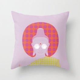 Buddha : Imagine Silence! (PopArtVersion) Throw Pillow