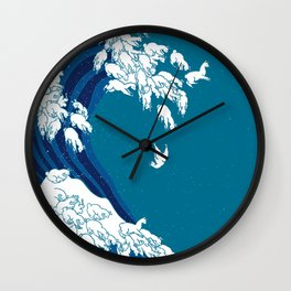 Waves Llama Wall Clock