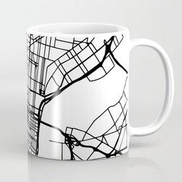 PHILADELPHIA PENNSYLVANIA BLACK CITY STREET MAP ART Coffee Mug