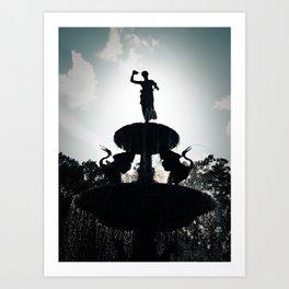 Heavenly Fountain Art Print