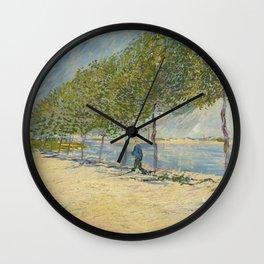 Along the Seine Wall Clock