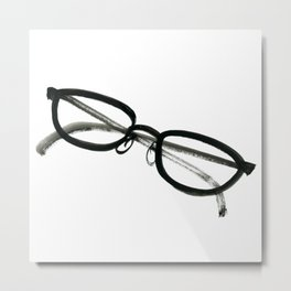 Inky Spectacles Metal Print
