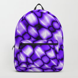 Remains of harmful vapors of the amethyst mesh from dark cracks on the glass. Backpack