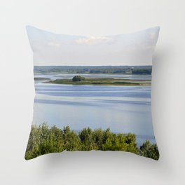 Landscape on the river # 3 Throw Pillow